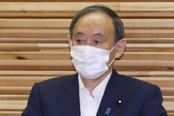 El primer ministro Yoshihide Suga durante una reunión de gabinete en Tokio el viernes 3 de septiembre de 2021.