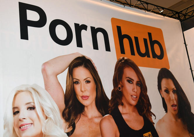 Un panneau Pornhub à Las Vegas, Nevada, en 2017.