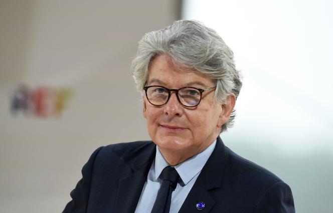 Thierry Breton lors de la réunion annuelle d'été du Medef à l'hippodrome de Longchamp, à Paris, le 26 août 2021.