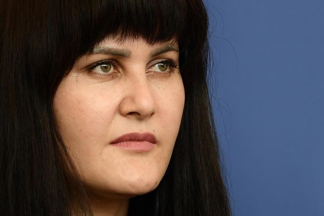 Sahraa Karimi, le 4 septembre 2021, lors de la 78e Mostra de Venise.