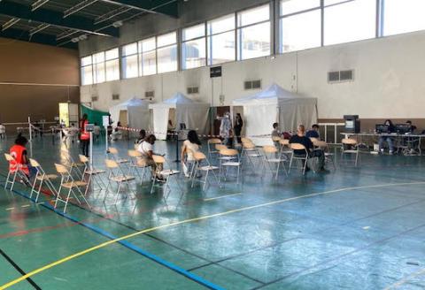 Centre de vaccination éphémère de l'université de Nanterre