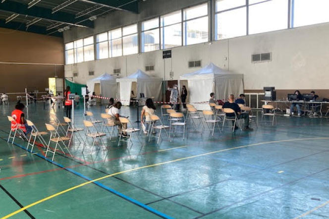 Centre de vaccination éphémère de l'université de Nanterre, le 6 septembre.