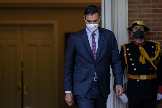 Le premier ministre espagnol, Pedro Sanchez, le 7 septembre 2021 au palais de la Moncloa, à Madrid.