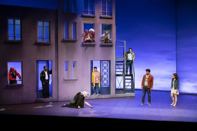 «J'habite ici»,de Jean-Michel Ribes, au Théâtre du Rond-Point, à Paris.