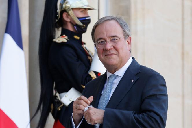 Le candidat de la CDU-CSU à la chancellerie, Armin Laschet, au palais de l'Elysée, le 8septembre 2021.