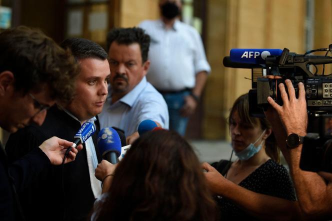Paul Yon, l'avocat de Cassandre Fristot, à l'issue du procès de sa cliente au tribunal correctionnel de Metz, le 8 septembre 2021.