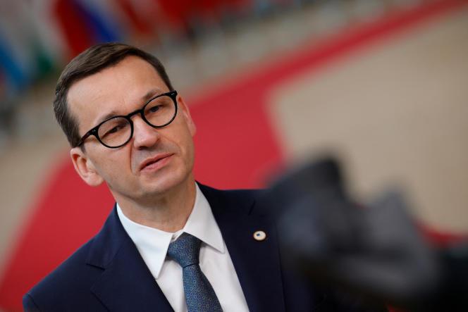 Premier Polski Matteo Moravich na szczycie UE w Brukseli 25 czerwca 2021 r.