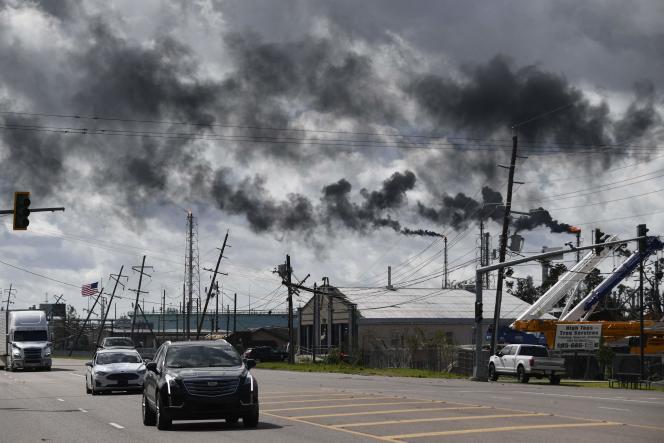 Devant une raffinerie, à Norco (Louisiane), le 30 août 2021.