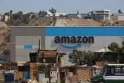 Le nouvel entrepôt d'Amazon à Tijuana (nord-ouest du Mexique), le 7 septembre 2021.