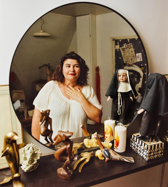 Marlène Saldana, chez elle, à Paris, le 25 août 2021.