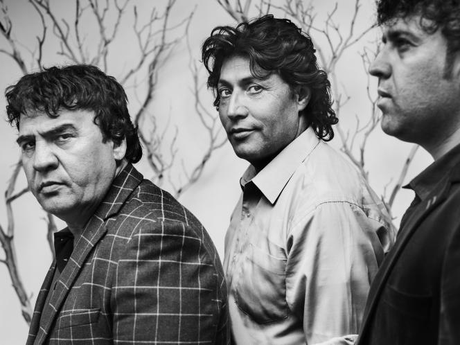 Salim Shaheen, Qurban Ali et Farid Mohibi,à Cannes en 2017.