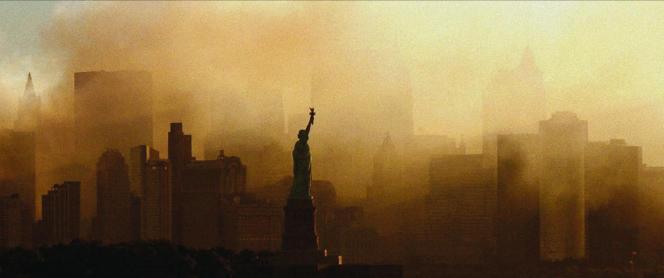 Image des attentats du 11 septembre 2001 à New York, extraite du documentaire deBrian Knappenberger, «Turning Point. Le 11-Septembre et la guerre contre le terrorisme».
