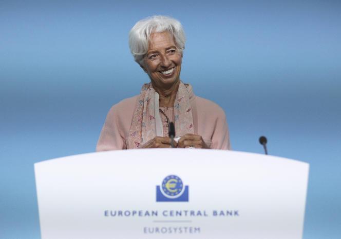 La présidente de la Banque centrale européenne, Christine Lagarde, à Francfort (Allemagne), le 9 septembre.