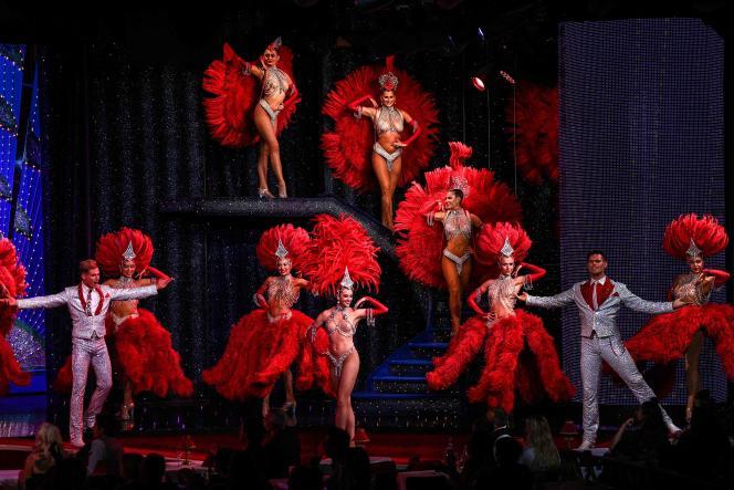 Répétition au Moulin Rouge, à Paris, le 8 septembre 2021.