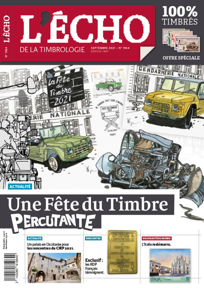 « L'Echo de la timbrologie », n° 1964, septembre 2021, 76 pages, 5,50 euros. En vente par correspondance (2, rue de l'Etoile, CS 79013, 80094 Amiens Cedex 3. Tél. : 03-22-71-71-87.
