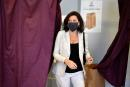 FILE PHOTO: Agnes Buzyn, La Republique en Marche (LREM) mayoral candidate, leaves the booth after casting her vote in the 5th district of Paris for the second round of the 2020 mayoral elections, in France June 28, 2020. Christophe Archambault/Pool via REUTERS/File Photo