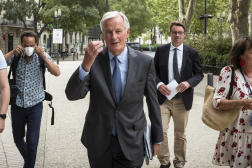 Michel Barnier, à Nîmes le 9 septembre 2021.