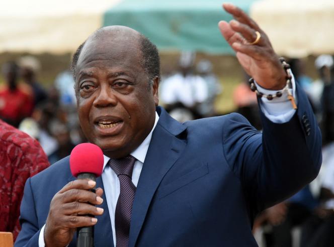 L'ancien premier ministre ivoirien Charles Konan Banny lors de la campagne électorale, en octobre 2015, à Abidjan.