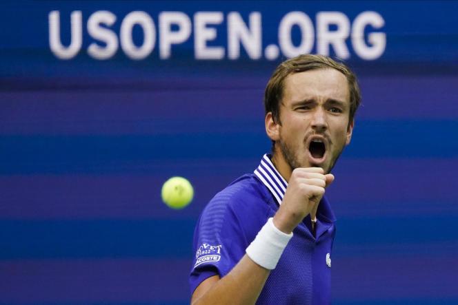 Le Russe Daniil Medvedev a balayé le Canadien Félix Auger-Aliassime en demi-finale de l'US Open, le 10septembre 2021.
