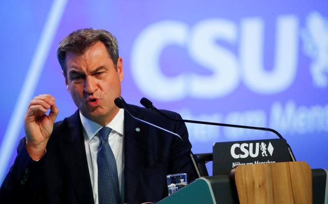 Le président de la CSU, Markus Söder, à Nuremberg, le 10 septembre 2021.