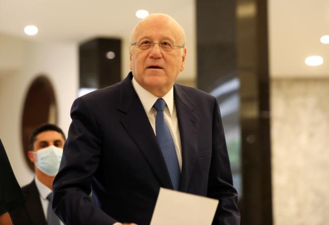 Le premier ministre libanais, Najib Mikati, à son arrivée au palais présidentiel, vendredi10septembre.