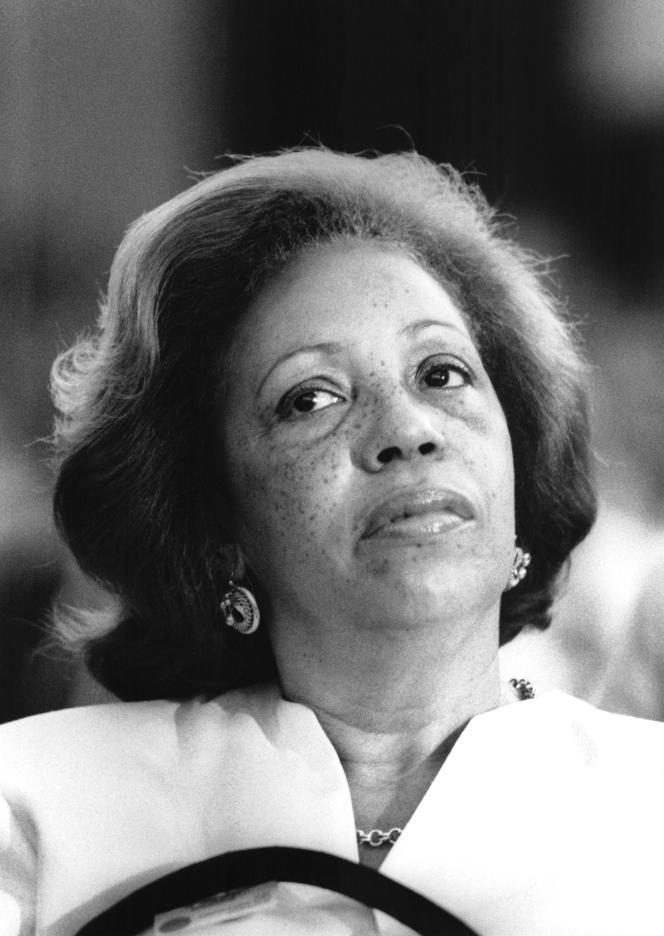 La secrétaire d'Etat à la francophonie Lucette Michaux-Chevry, en 1987.