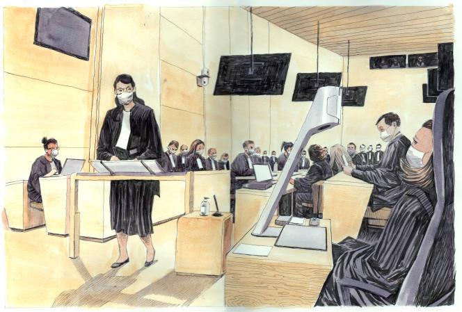 Une avocate des parties civiles, lors du procès des attentats du 13 novembre 2015, àParis, le 9 septembre 2021.