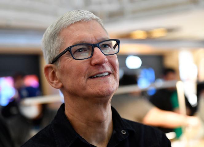 Le patron d'Apple, Tim Cook, à Los Angeles (Californie), le 24 juin 2021.