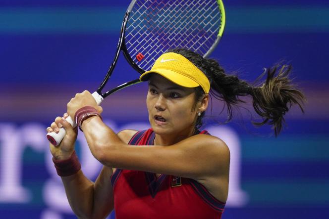Emma Raducanu lors de la demi-finale de l'US Open contreMaria Sakkari, le 9 septembre.