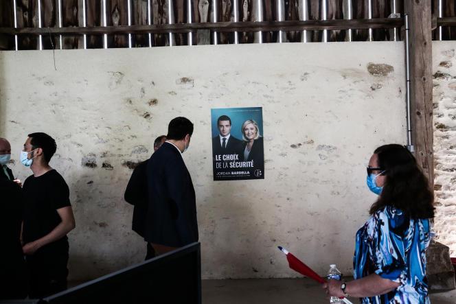 Meeting de Jordan Bardella pour les élections régionales, àMormant (Seine-et-Marne) le 12 juin 2021.