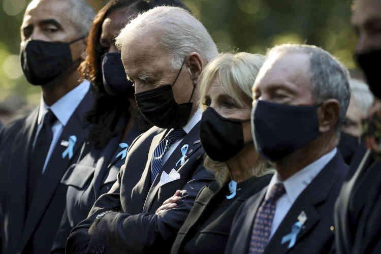 Dansun message vidéopublié vendredi 10septembre, Joe Biden a appelé les Américains à l'unité. «C'est pour moi la leçon centrale du 11-Septembre. C'est que lorsque nous sommes les plus vulnérables(…),l'unité est notre plus grande force», a déclaré le président américain, filmé à la Maison Blanche.