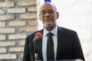 """Haiti's Prime Minister Ariel Henry attends the signing ceremony of the """"Political Agreement for a peaceful and effective governance of the interim period"""" with the opposition, in Port-au-Prince, Haiti. September 11, 2021.REUTERS/Ralph Tedy Erol NO RESALES. NO ARCHIVE"""