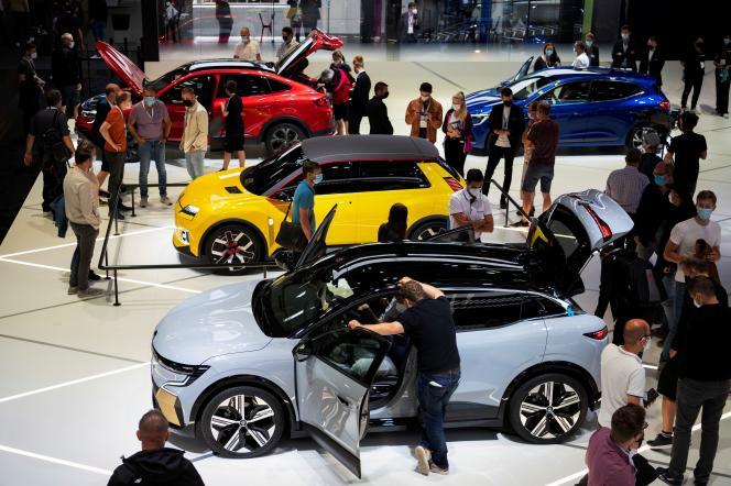 Le stand Renault au Salon de l'automobile de Munich, le 11 septembre 2021.