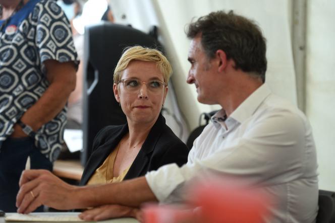 Le maire (EELV) de Grenoble, Eric Piolle, et la députée (LFI) Clémentine Autain, à la Fête de«L'Humanité», le 11septembre 2021.