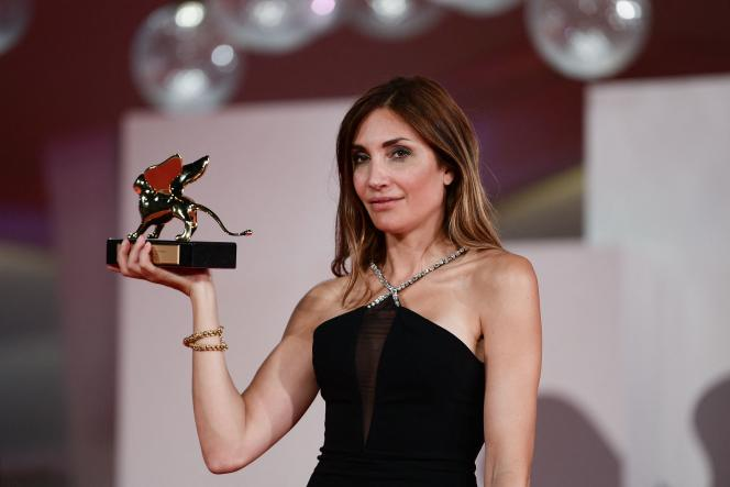 French director Audrey Diwan received the Golden Lion in Venice on September 11, 2021.