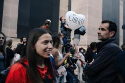 Dans la manifestation anti-passe sanitaire, à Paris, le 11 septembre 2021.