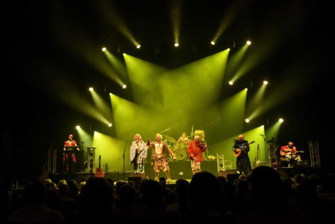Le groupe Tri Yann lors de son ultime concert à Nantes, le 11 septembre 2021.