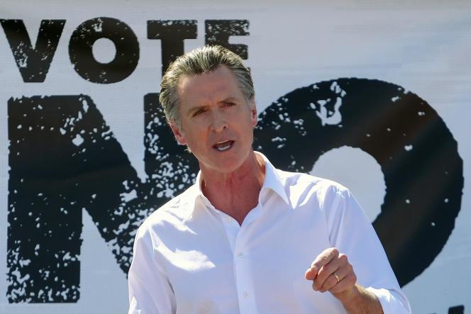 Le gouverneur de Californie, Gavin Newsom, à Sun Valley, le 12 septembre 2021.