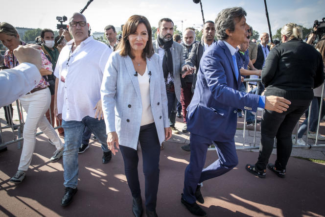 La maire de Paris, Anne Hidalgo, s'apprête à annoncer sa candidature à l'élection présidentielle pour le Parti socialiste (PS), à Rouen, le 12 septembre 2021.