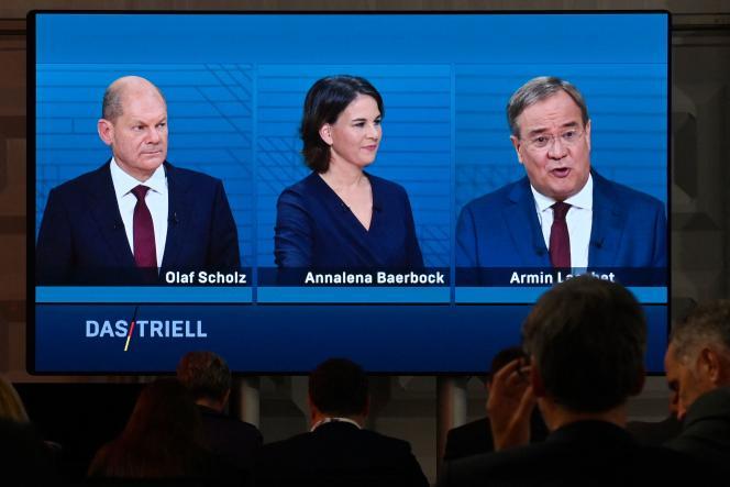 Pour la deuxième fois en quinze jours, Olaf Scholz (SPD), Annalena Baerbock (Verts) et Armin Laschet (CDU-CSU) ont débattu, dimanche 12 septembre, à la télévision.