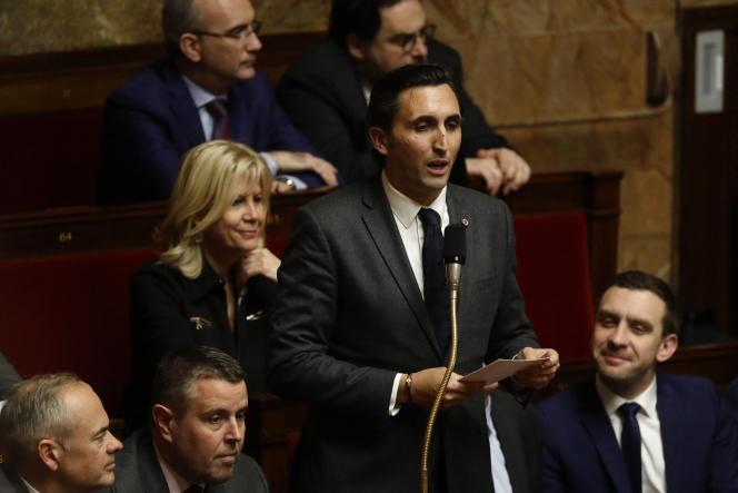 Le député (LR) du Vaucluse Julien Aubert, à l'Assemblée nationale, en février 2020.