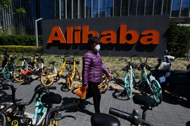 Le siège d'Alibaba, à Pékin (Chine), le 13 avril 2021.