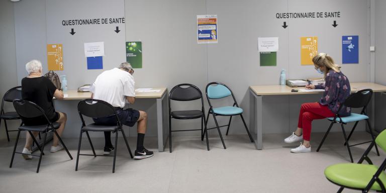 Centre de vaccination, CHU , NIMES, le 8 septembre 2021