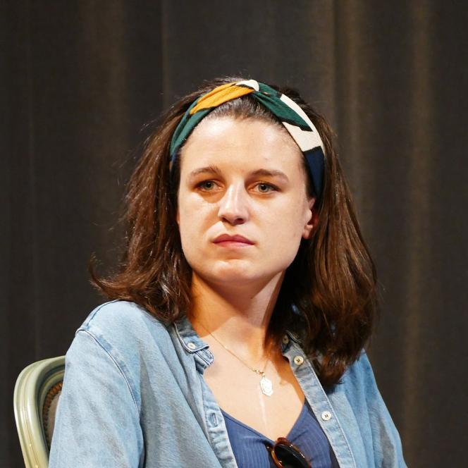 Eugénie Bastié, lors d'une soirée débat au théâtre Montansier, à Versailles, en 2017.