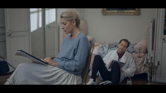 Elsa Lepoivre (Madame de Merteuil) et Eric Génovèse (vicomte de Valmont) dans «Les Liaisons scandaleuses», de Priscilla Pizzato.