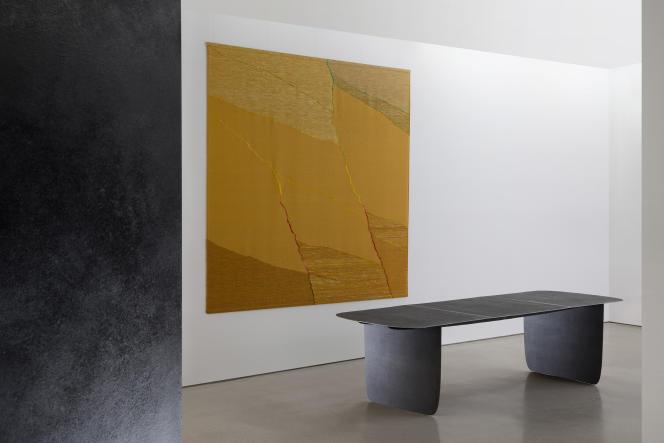 Exposition «Flexible Rigidity», Simone Prouvé & Aki+Arnaud Cooren, à la Carpenters Workshop Gallery, Paris.