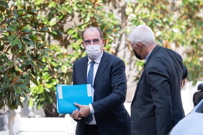 Le premier ministre, Jean Castex, rencontre les présidents de régions à Matignon, le 13 septembre 2021.