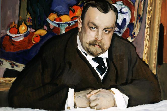 Portrait du collectionneur Ivan Abramovitch Morozov, en 1910, par Valentin Serov.