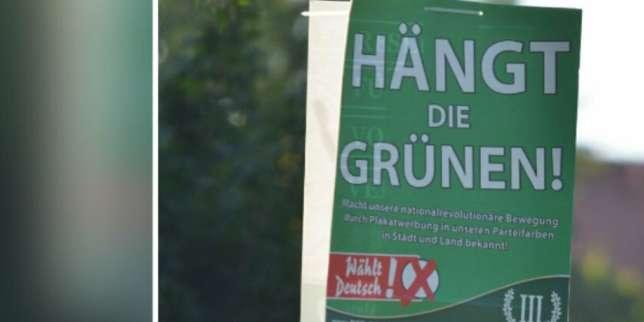 Elections allemandes, J – 11: des affiches appelant à «pendre les Verts» sont autorisées
