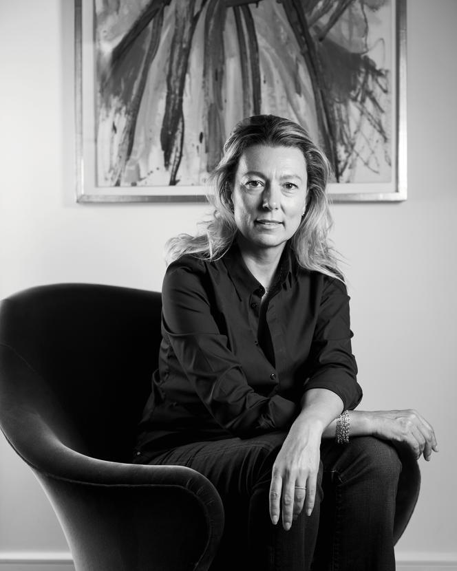 Caroline Rostang, chez elle, à Paris, le 26 août 2021.